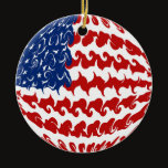 United States Gnarly Flag Ceramic Ornament