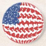 United States Gnarly Flag Coaster