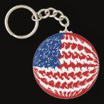 United States Gnarly Flag Keychain