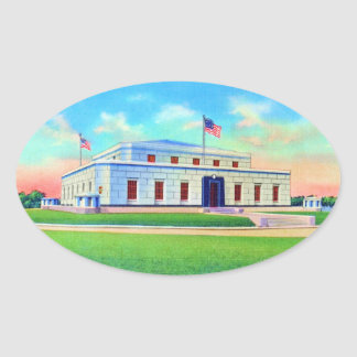 United States Gold Depository, 1938 Post Card Oval Sticker