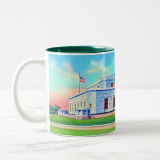United States Gold Depository, 1938 Post Card Two-Tone Coffee Mug