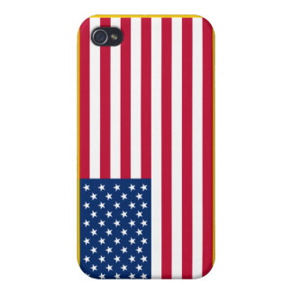 United States Gold Fringed Admiralty Maritime Flag iPhone 4 Cover