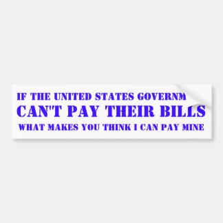 United States Government. Bumper Sticker