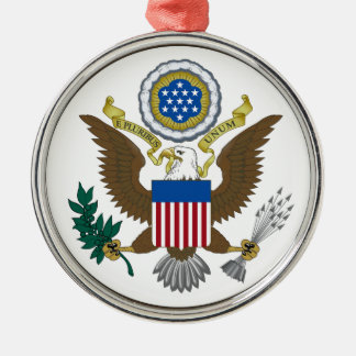 United States Great Seal Metal Ornament