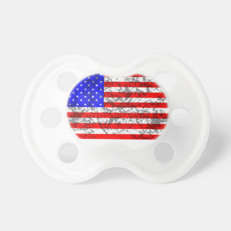 United States Grunge Flag Pacifier