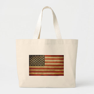 United States Grunge Style Tote Bags