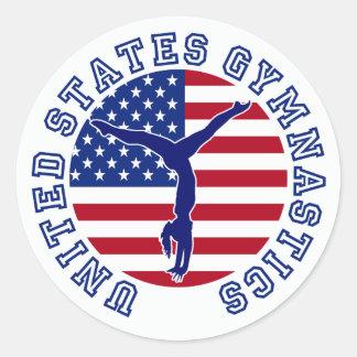 United States Gymnastics Classic Round Sticker