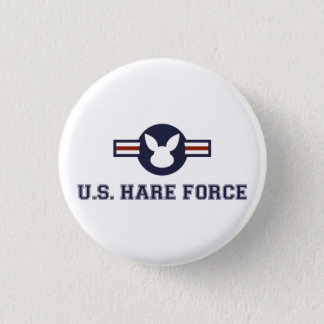 United States Hare Air Force Bunny Button