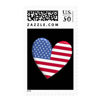 United States Heart Flag Stamps