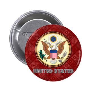 United States High Quality Coat of Arms 2 Inch Round Button