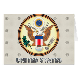 United States High Quality Coat of Arms Greeting Card