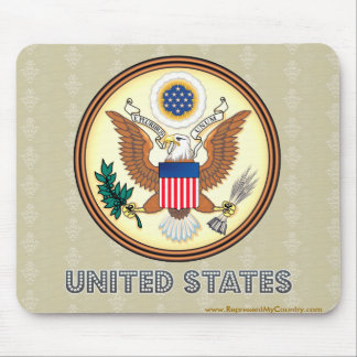 United States High Quality Coat of Arms Mouse Pad