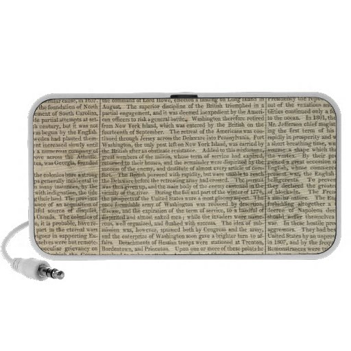 United States History Map 2 Portable Speakers