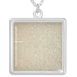 United States History Map 2 Silver Plated Necklace