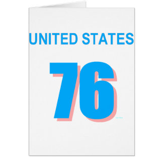 United States in Pink and Blue Card