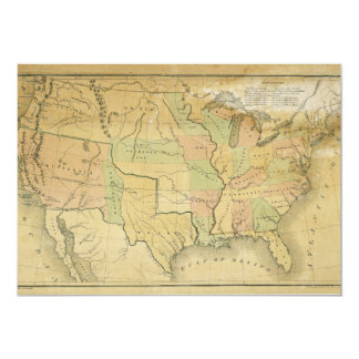United States Including Western Territories 1848 Card