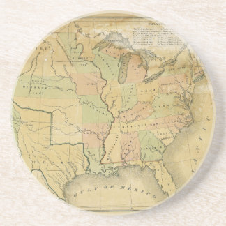 United States Including Western Territories 1848 Coaster