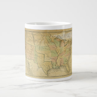 United States Including Western Territories 1848 Giant Coffee Mug