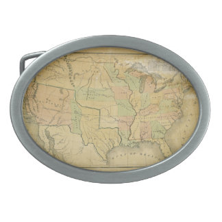 United States Including Western Territories 1848 Oval Belt Buckle