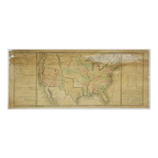 United States Including Western Territories 1848 Poster