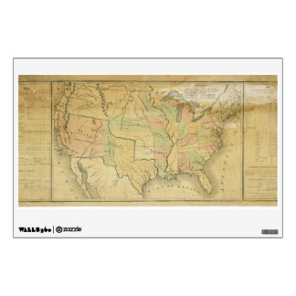 United States Including Western Territories 1848 Room Decals