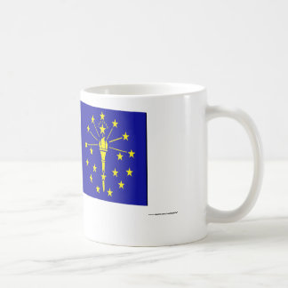 United States & Indiana Flags Coffee Mug