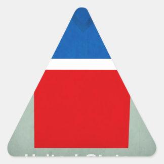 United_States.jpg Pegatina Triangular