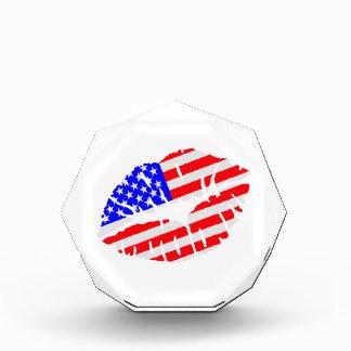 United States kiss flag Acrylic Award