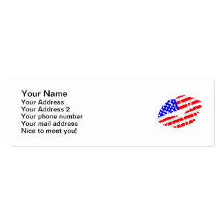 United States kiss flag Double-Sided Mini Business Cards (Pack Of 20)