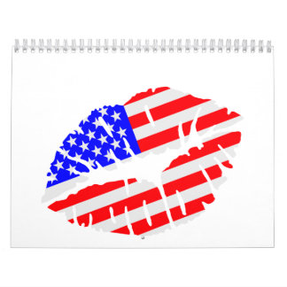 United States kiss flag Wall Calendar