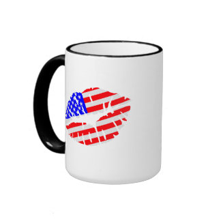 United States kiss flag Mugs