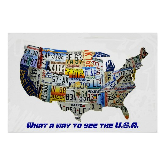 United States License Plate Map Poster on basketball usa map, state usa map, color usa map, driving usa map, art usa map, paint usa map, time usa map, list 50 states and capitals map, license plate world map, license plate map art, reverse usa map, license plates for each state, motorcycle usa map, flag usa map, decals usa map, golf usa map, baseball usa map, map usa map, leapfrog interactive united states map, watercolor usa map,