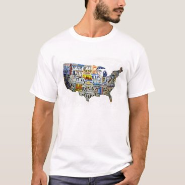musicmom United States License Plate Map T-Shirt