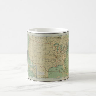 United States Light-House Outline Map 1896 Classic White Coffee Mug