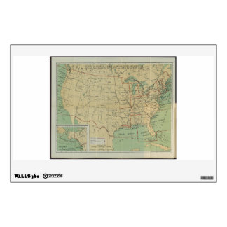 United States Light-House Outline Map 1896 Room Decals