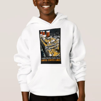 United States Lines Comfort Courtesy Safety Speed Hoodie