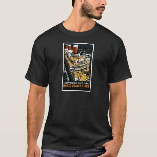 United States Lines Comfort Courtesy Safety Speed T-Shirt
