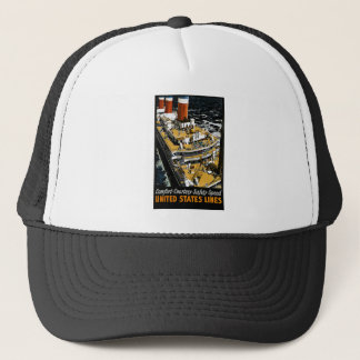 United States Lines Comfort Courtesy Safety Speed Trucker Hat