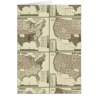 United States lithographed maps 2 Greeting Card