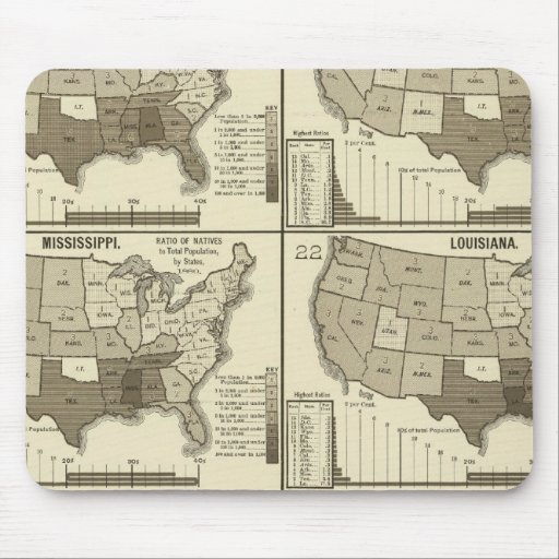 United States lithographed maps 2 Mouse Pad