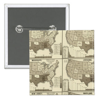 United States lithographed maps 2 Pinback Button