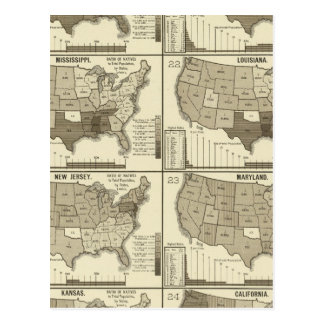 United States lithographed maps 2 Postcard