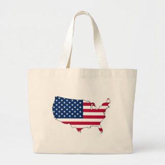 United States Mainland Flag Map Bags