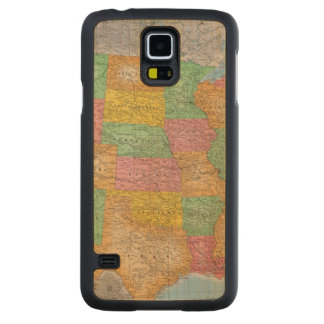 United States Map 3 Carved® Maple Galaxy S5 Case