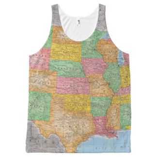 United States Map 3 All-Over Print Tank Top