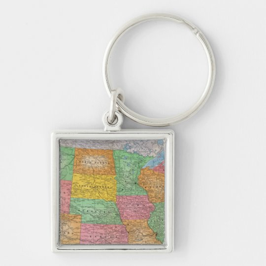 United States Map 3 Keychain