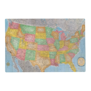 United States Map 3 Placemat at Zazzle