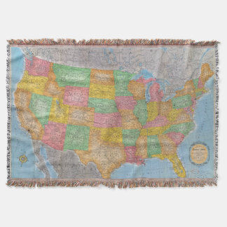 United States Map 3 Throw