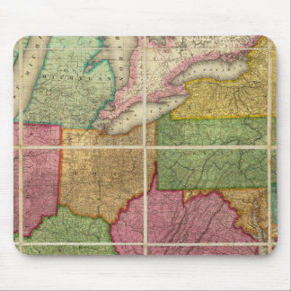 United States Map 4 Mouse Pad