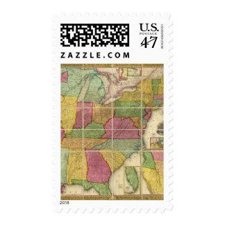 United States Map 4 Postage